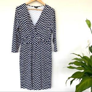 Talbots midi dress with v-neck wrap front